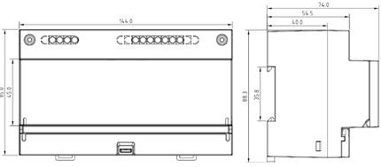 三相预付费电能表dtsy1352安科瑞 8个模数配合断路器实现负载断电